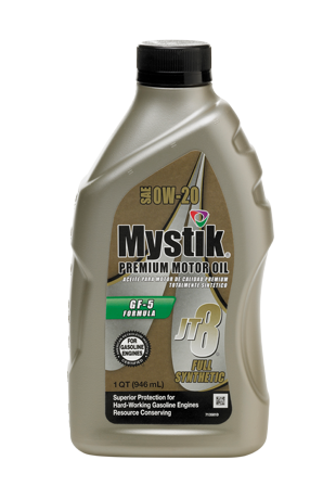 Mystik store mystik jt 8 premium gasoline synthetic for Sae 0w 20 synthetic motor oil